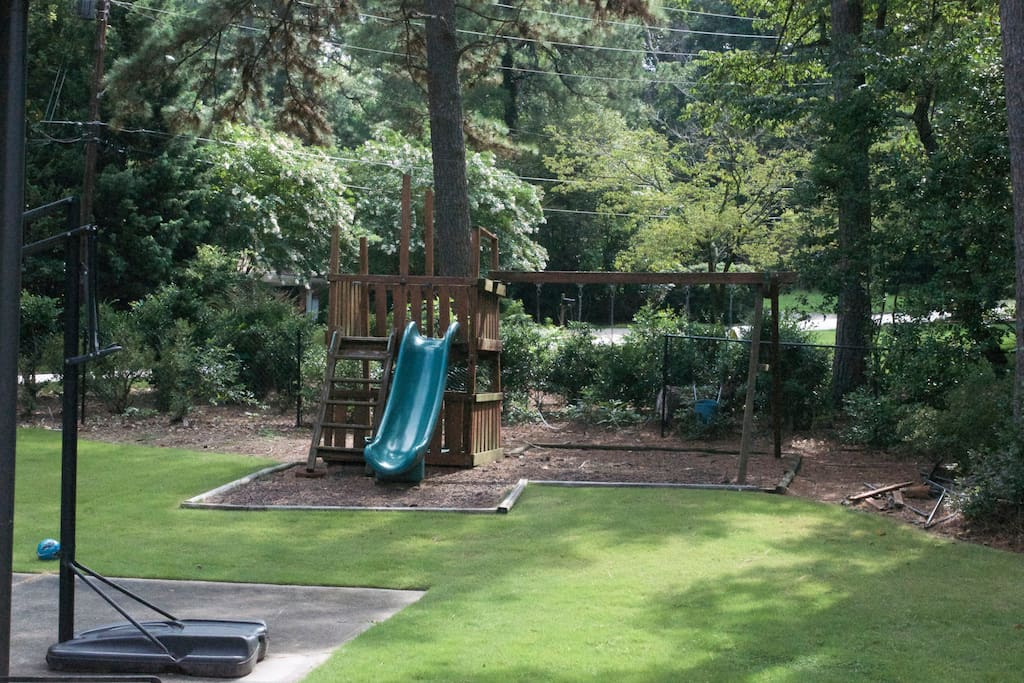 Basketball Hoop and Child Playscape