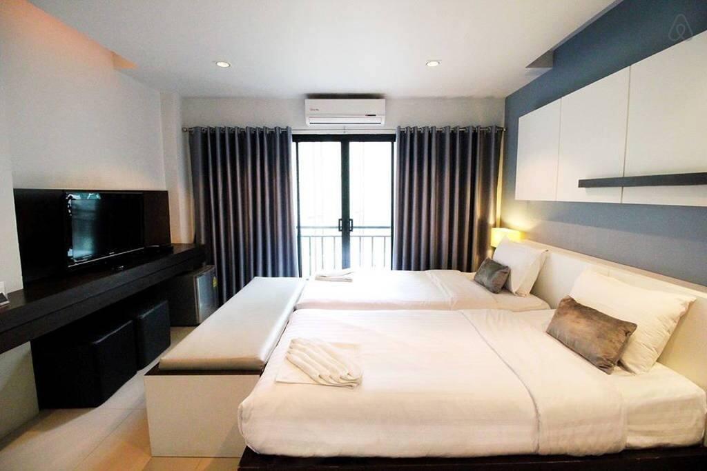 Arrange to double bed
