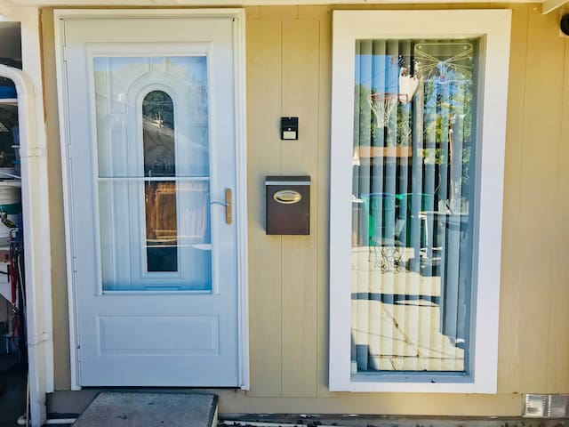 Own Private Main Entrance Door for the 2 rented bedrooms suit and private Bathroom