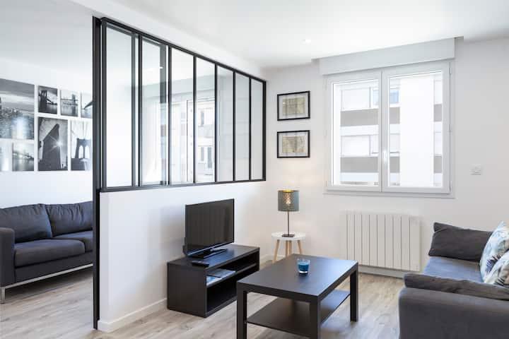Appartement spacieux en centre-ville proche Gare