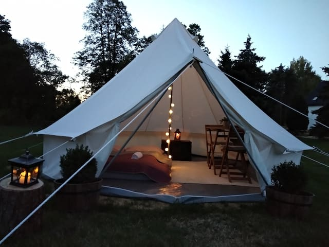 Glamping tent in Bohemian Switzerland near Hřensko