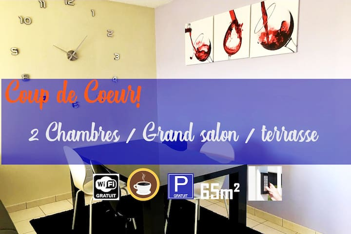 ❤ Appartement 2 chambres DIJON - Toison d'Or
