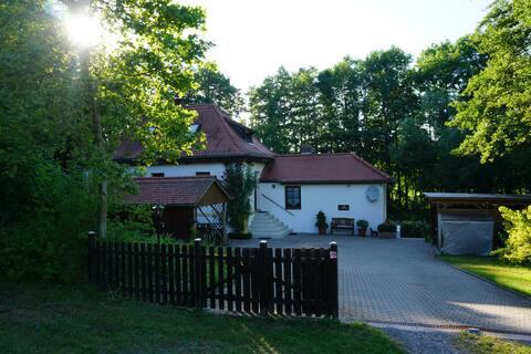 Little house on lakeshore