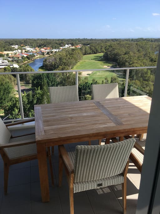 Balcony views to Pelican Waters Golf Course