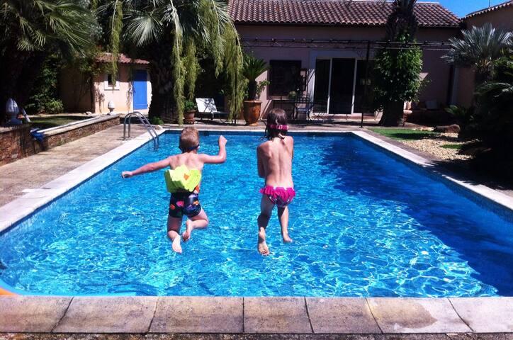 Maison de vacances avec piscine, tout confort