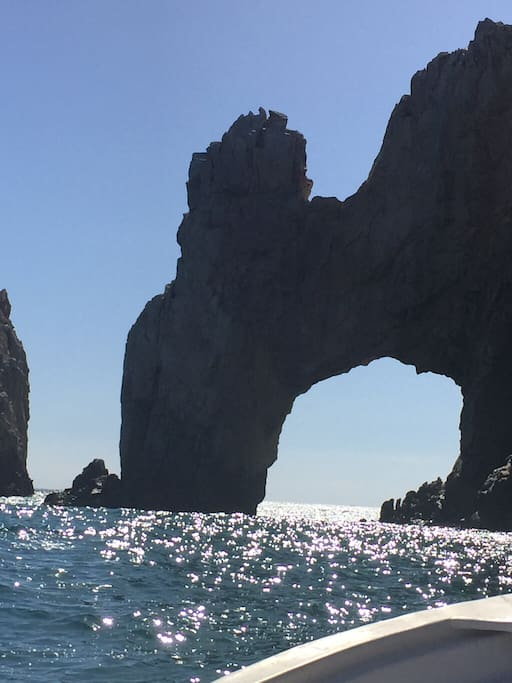 The ARCH. 5 minute boat ride from your back door.