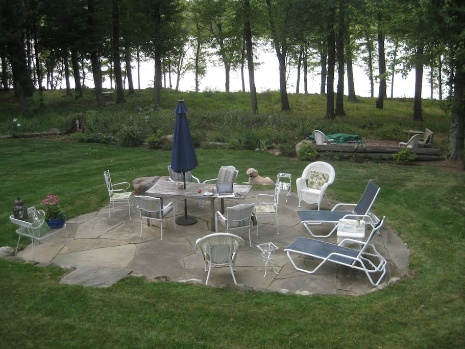 Lake patio