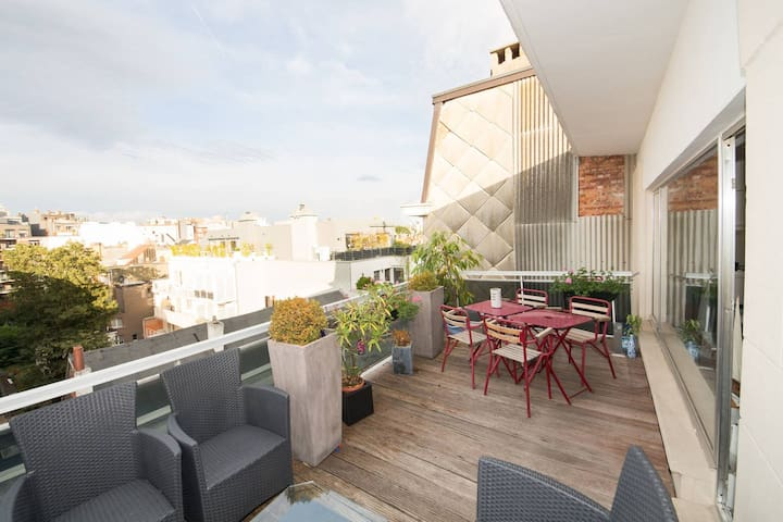 1 bedroom penthouse with awesome roof deck - Antwerpen - Apartment