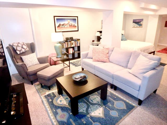 Sunny & Spacious Apt Near Metro. Private Entrance!