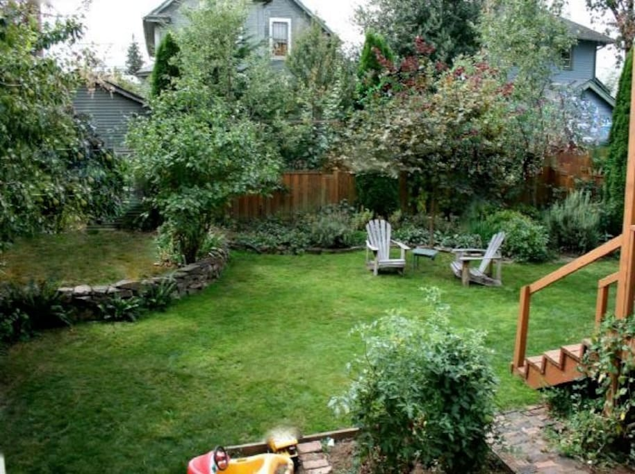 A lush backyard, a perfect way to start and end your day.