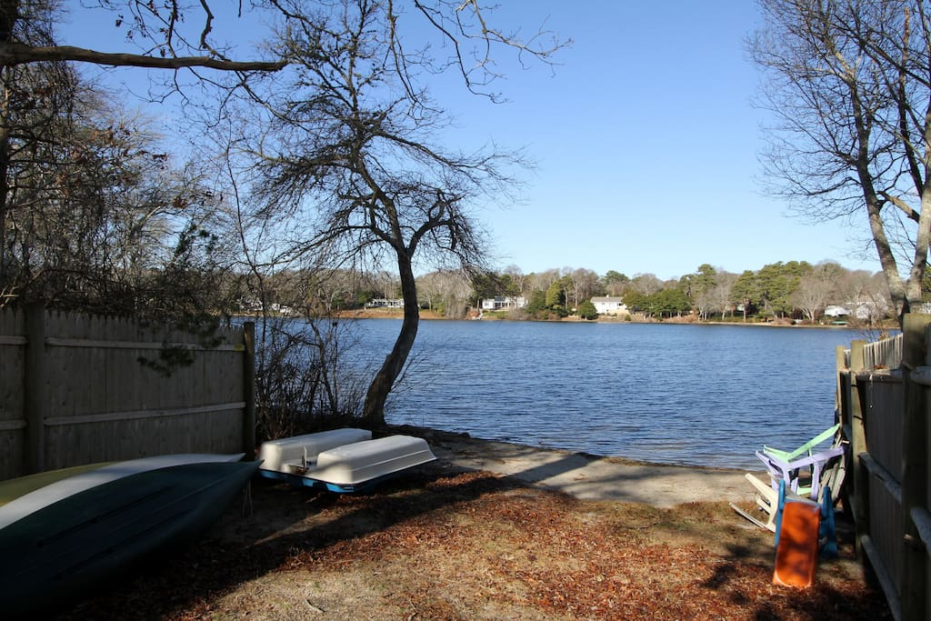 Beach awaits at this vacation rental.  Bring a canoe or kayak! Neighborhood beach with the beach path located next to the house.