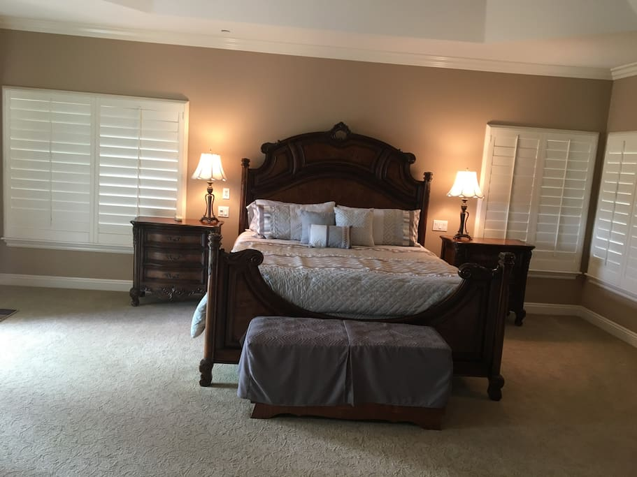 Relax in this king-size bedroom suite