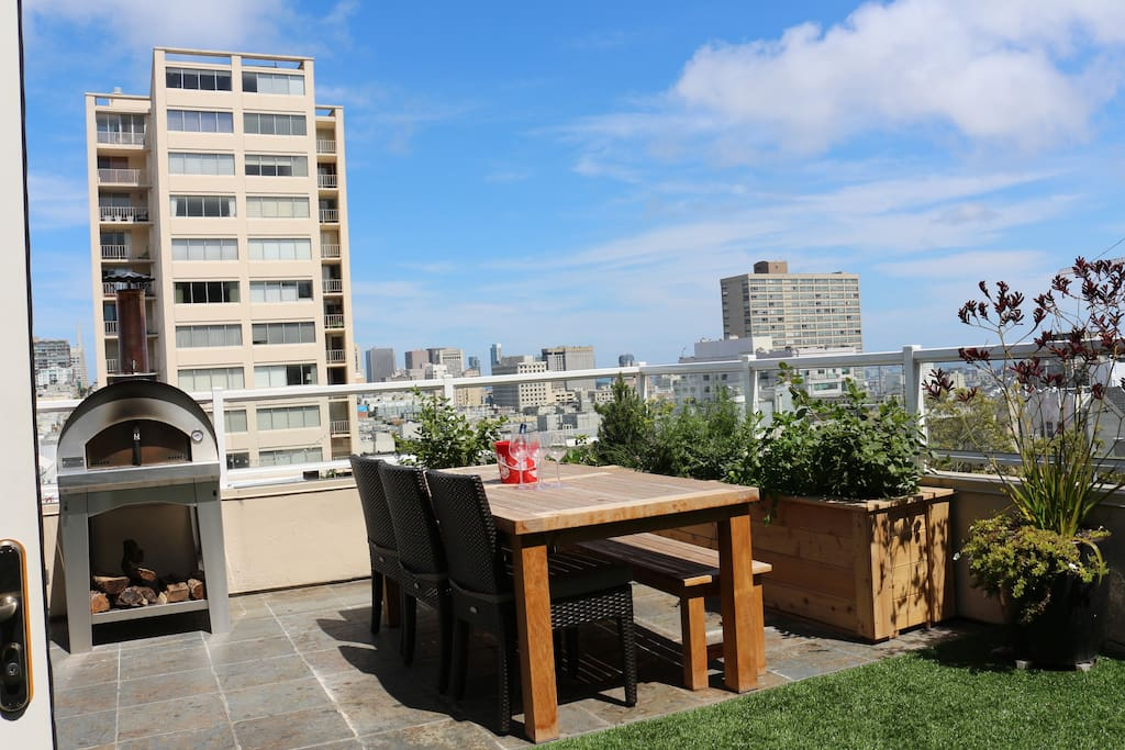 Big terrace views - nice place to hang out