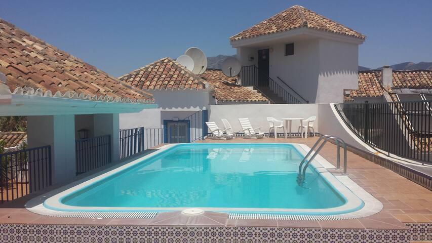 Heated roof  top pool.