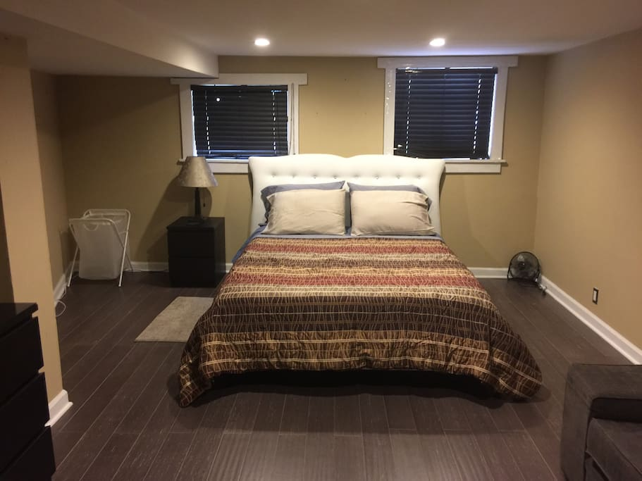 One of the two bedrooms (Master bedroom) in the lower level apt/space.