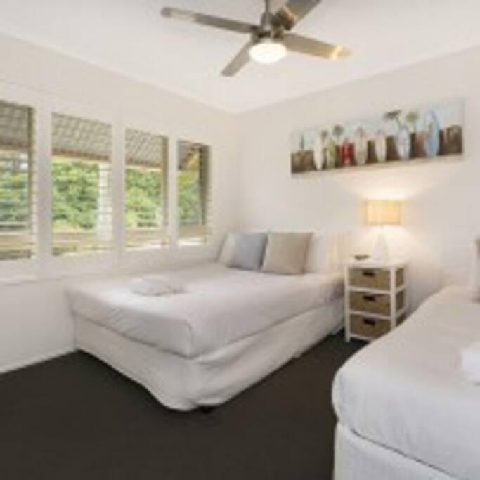 2nd Bedroom has 1 x Queen Bed + 1 Single Bed
