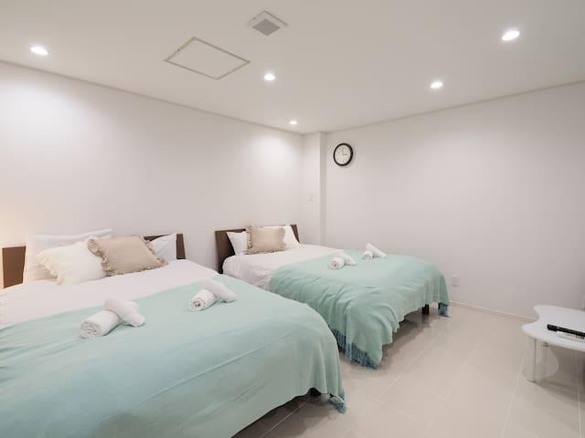K1-2B: Kukuru house 最大4名 白亜のリノベ済みくくるハウス.旭橋国際通り徒歩圏内