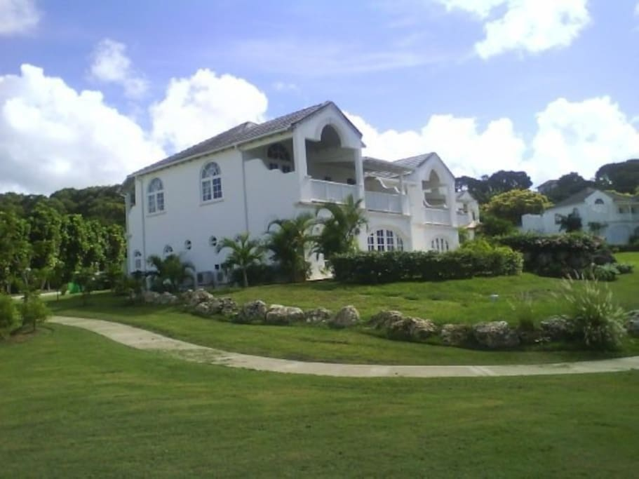 Side view of the villa