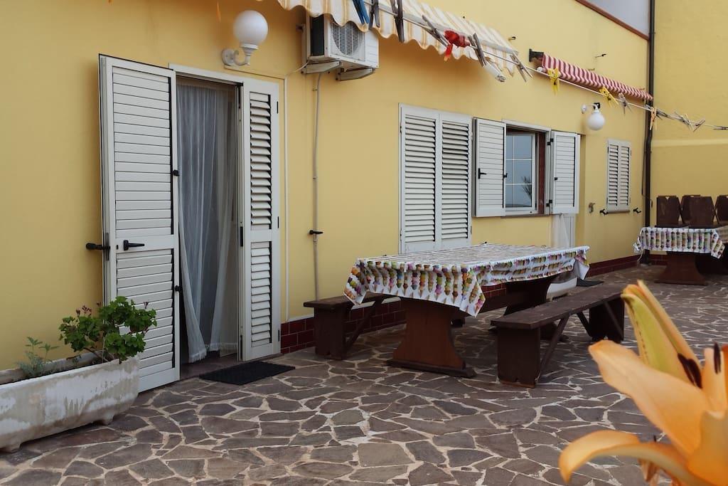 Outside area Terrazzo
