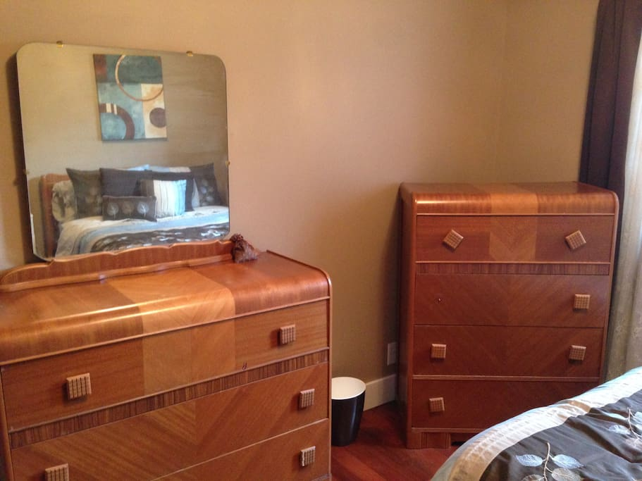 These dressers have deep empty drawers from 1945.