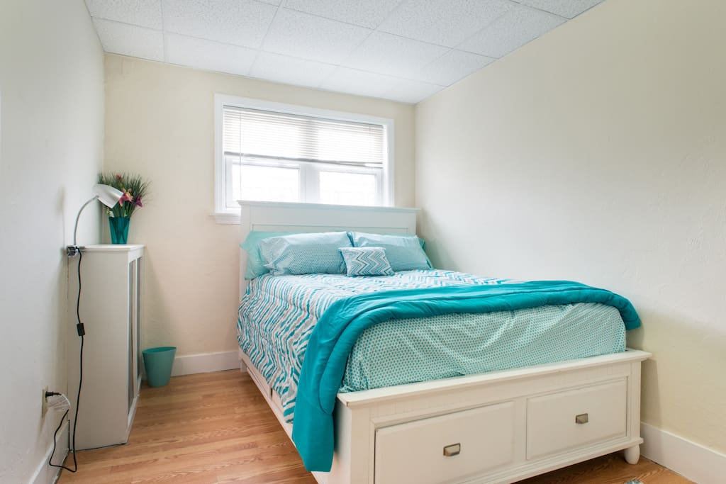 """Sleep comfortably on this plush queen size mattress.  """"They are awesome hosts! Any question and they're there for you! We thoroughly enjoyed our stay."""" :By guest Tracy"""
