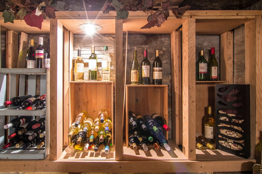 You'll probably want to break into the wine bar while you're staying here!