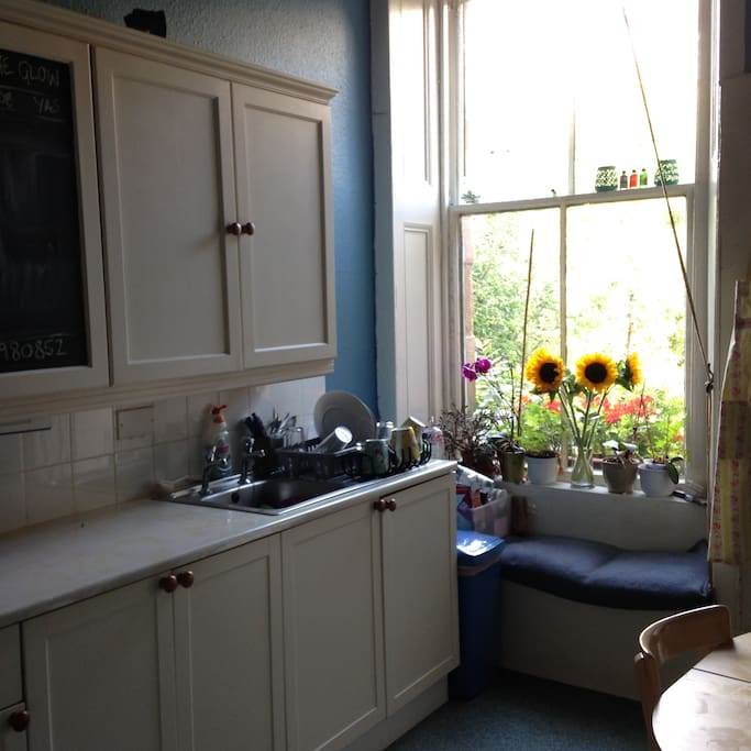 Kitchen with view to garden