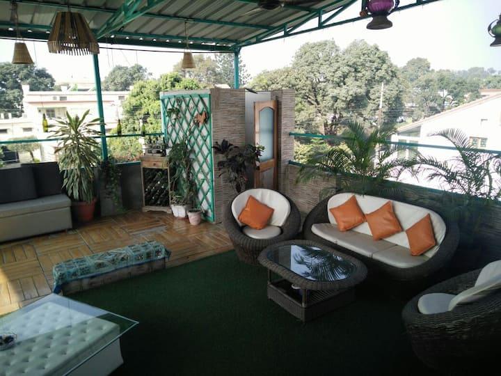 Terrace garden home