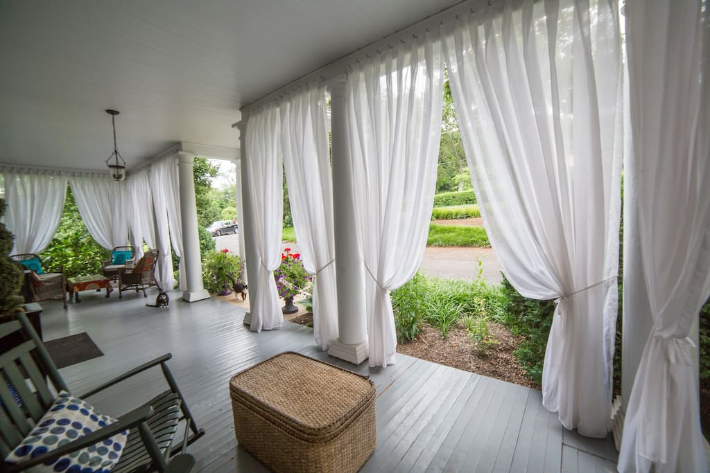 Enjoy morning coffee on the spacious front porch.