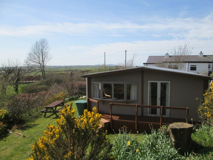 Cabin in Rhosybol with views across Anglesey