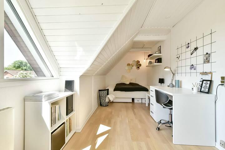 Stort hyggeligt værelse i Sunds - Sunds - Villa