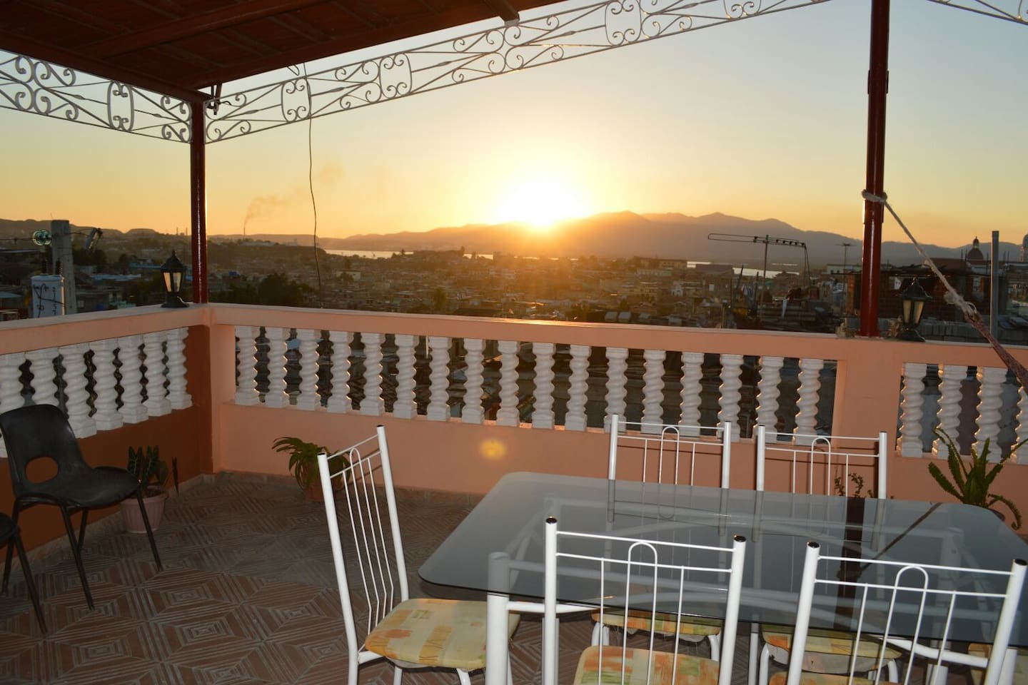 Enjoy OUR great breakfast in our terrace with amazing views of the city.