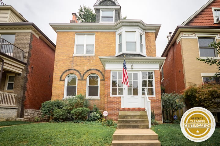 Charming 6BR Family Home Steps From Tower Grove Park