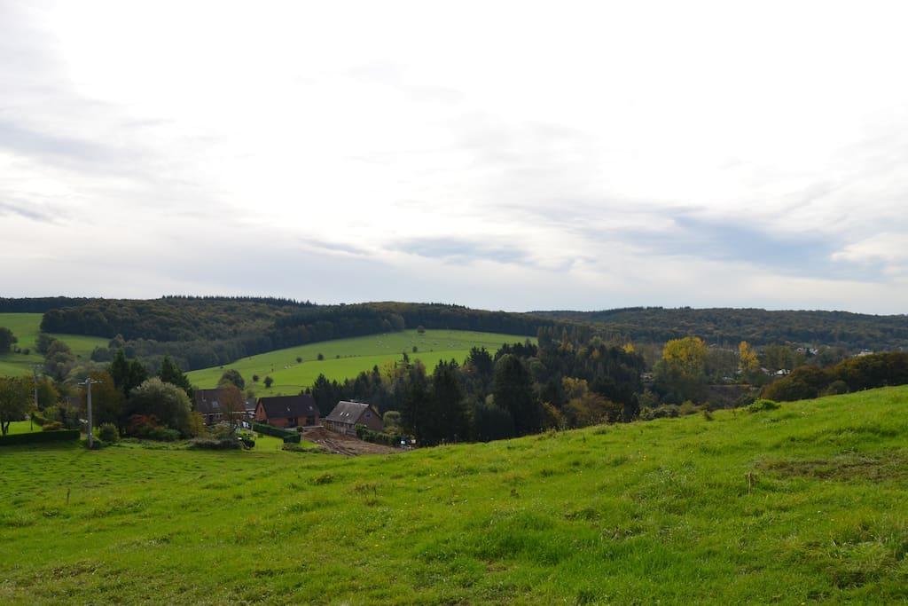 vue a partir du village