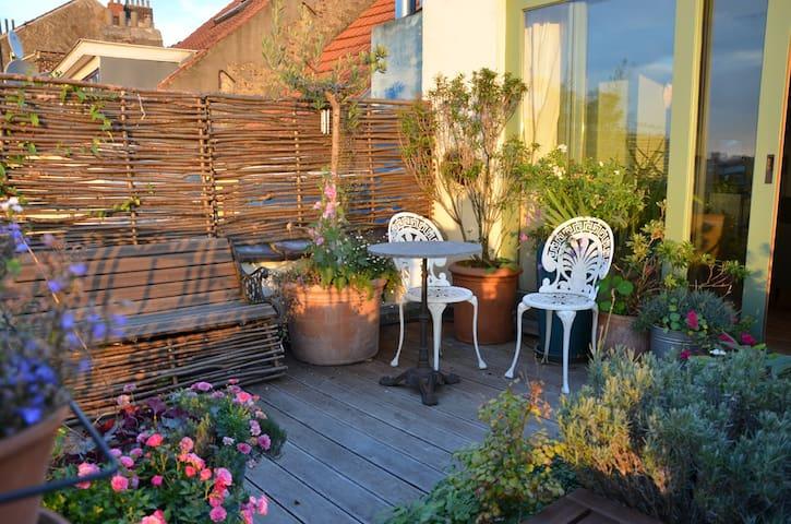 Lovely artist nest with amazingview - Ixelles - Appartement