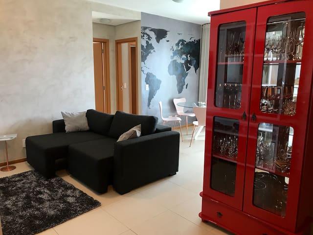 Moderno apartamento em condomínio de luxo