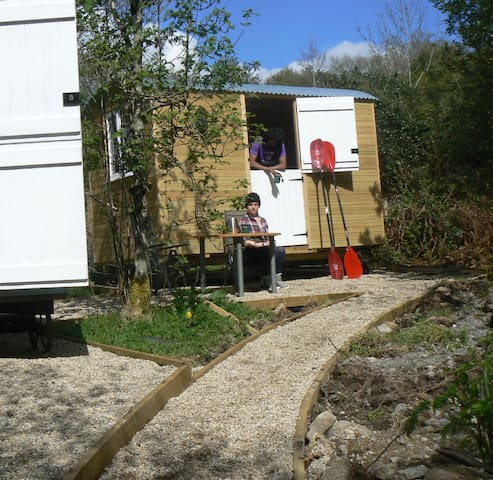 Shepherds Huts by Lough Allen - Ballinaglera