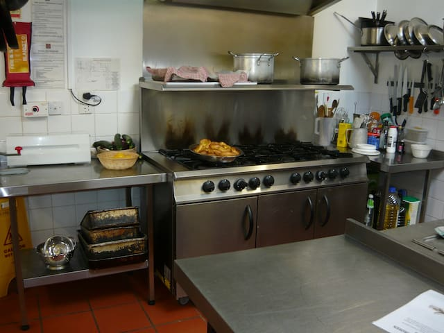 Fully equipped commercial kitchens