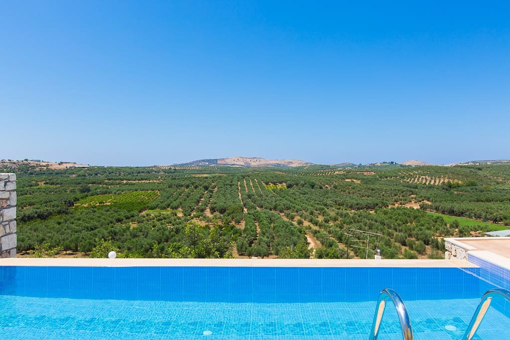 The view from the pool and terrace is astonishing!