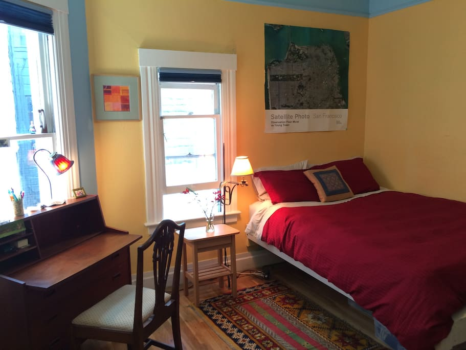 We have another room with a Queen sized bed in the flat which is also for rent, so 3 people could stay together. Here is the link: https://www.airbnb.com/rooms/7350876