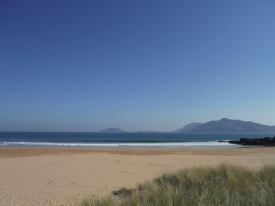 Ballymastocker beach, 10 minute walk from house