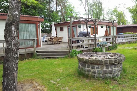 Chalet with 2 rooms, living, sleep - 恩斯赫德(Enschede)