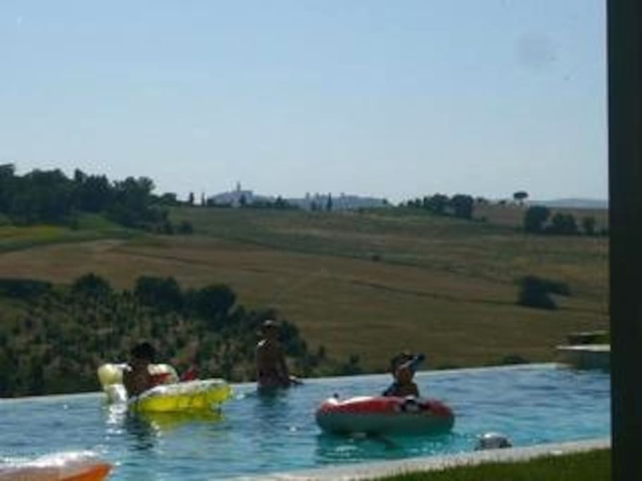 View of Pool and Todi in the distance