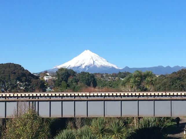 Mt Taranaki view from end of road