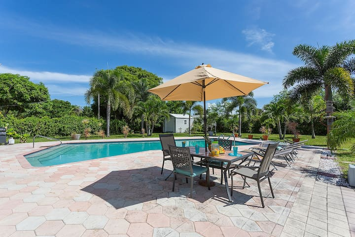 Tropical Paradise Huge Pool - Boca Raton - House