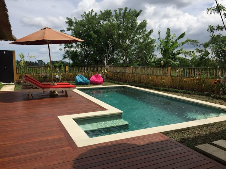 Lupayu lovely 2br facing  ricefields in Ubud.