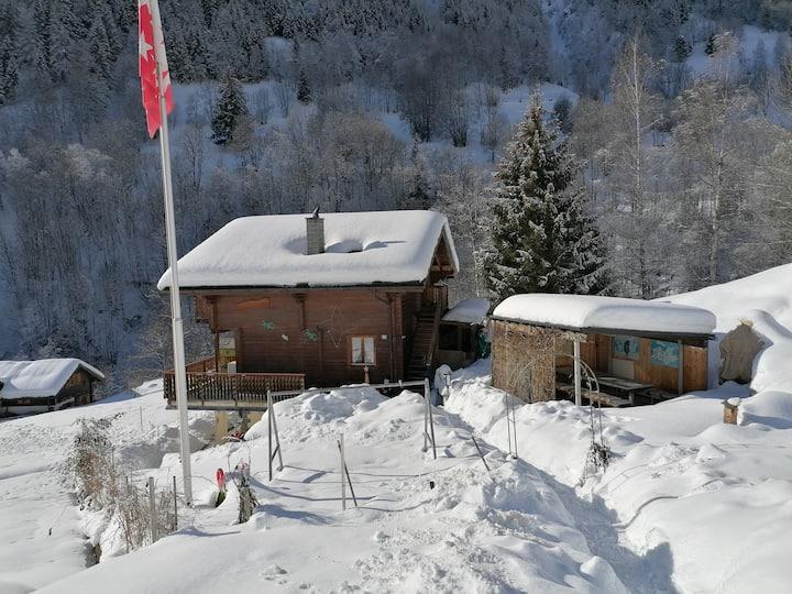 Chalet Moosji Fieschertal Wunderbarer winter