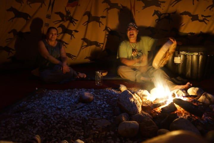 Spirit Bear Lodge Tipi - Warrensburg