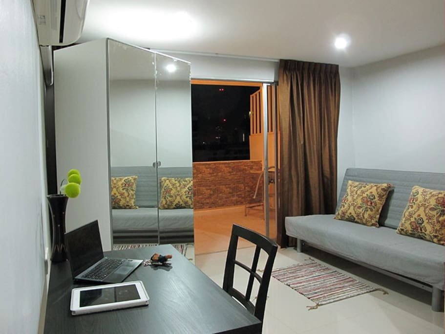 Living area converts to second bedroom
