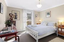 Queen bedroom - it's a really great mattress with good pillows. Electric blanket for those chilly winter nights.